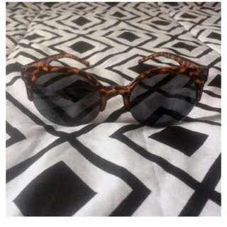 kacamata brown leopard like rayban