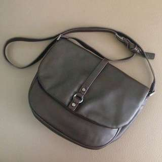 Esprit Dark Brown Saddle Crossbody Bag