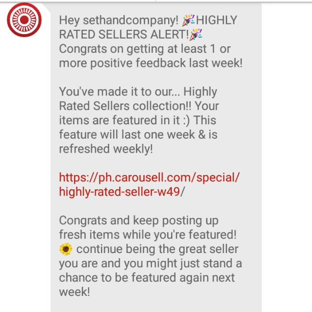 (11th) Thank you my Buyers and Co-sellers! Thank you Carousell!