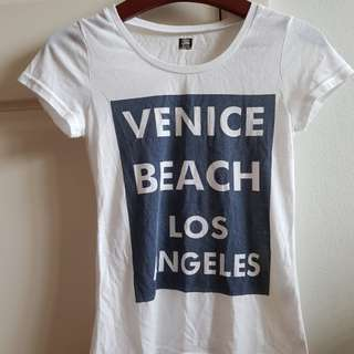 White venice beach print t shirt