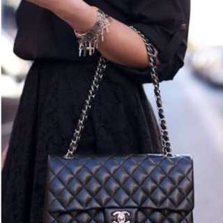 """Chanel classic lambskin incl. box and gift bags size""""25"""