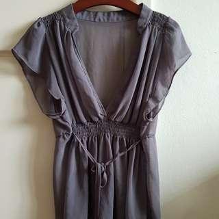 Chiffon grey blouse