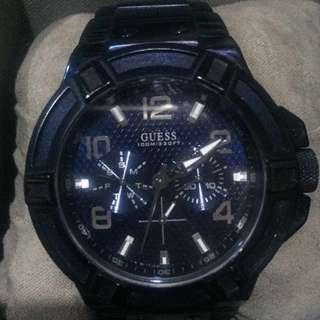 Jam tangan guess rigor blue W0218G4 ORI