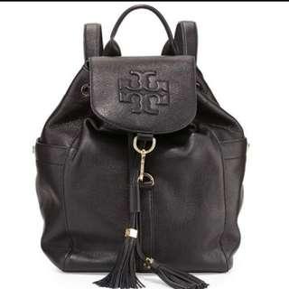 *代友放*95%新TORY BURCH Leather Thea mini backpack