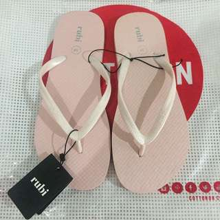 Baby pink flip flop