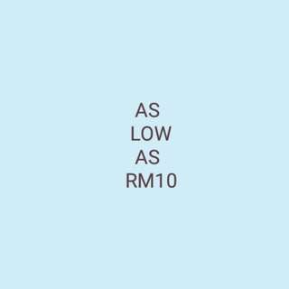 As low as RM10
