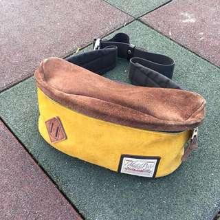 日本製 masterpiece 腰包 豬鼻 麂皮 撞色 復古 古著 outdoor 90s 側背包