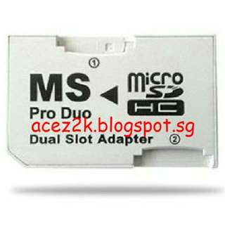 [BN] MicroSD to MS Pro Duo Dual Slot Adapter (Brand New)