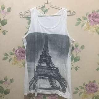 [REPRICE] SLEEVELESS PARIS TEE