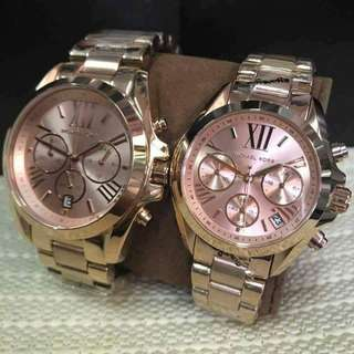 Authentic mk watch rosegold sale!