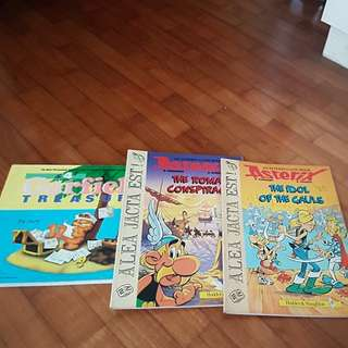 Comics. Asterix and Garfield