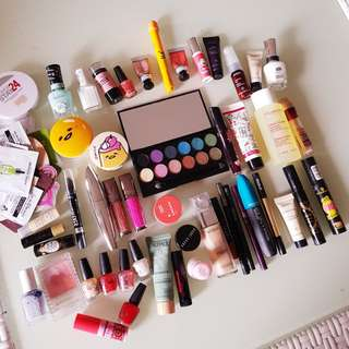 50+ bulk makeup skincare fair skin mecca sephora nars bobbi UD essie revlon loreal mascara eyeshadows