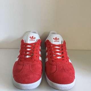 Red Adidas gazelles