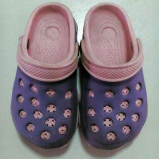 (Preloved Item) Purple Pink Slipper