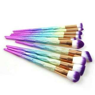 10pcs Unicorn Brushes