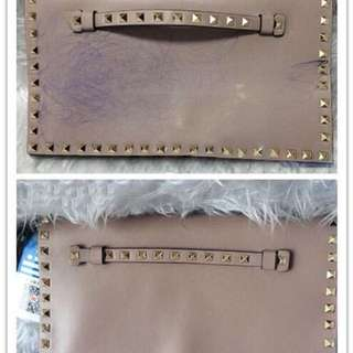 Color Restoration On Valentino Bag With Pen Stains Drawn By Her Son Beautifully Done By The Nimble Hands Of Our Milan Artisan !!!