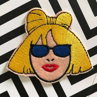 Bn lady gaga iron on/sew on patch