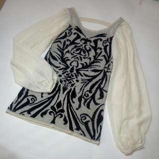 【M size 】透膚袖/薄針織上衣