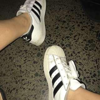 Adidas Original Superstars Size 2