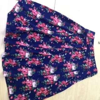 Sale rok bunga panjang dibawah lutut