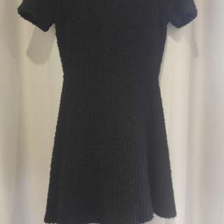 Woolen black dress - 6-8