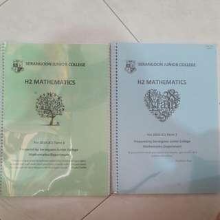 H2 Mathematics Lecture Notes & Tutorial