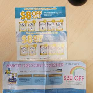 Nan and similac vouchers free mailing