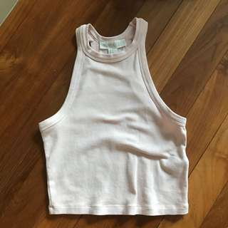 Baby Pink Forever21 High Neck Top