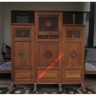 Sekat Ruangan (divider) - kayu jati madiun