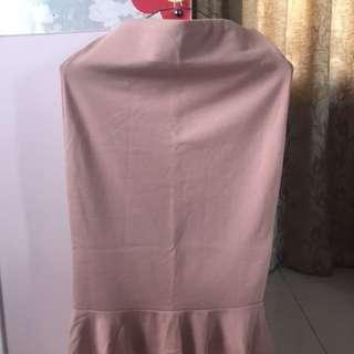Zara Basic Salmon Peplum Skirt