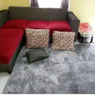Karpet bulu grey