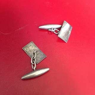 古董銀 袖口鈕 不議價
