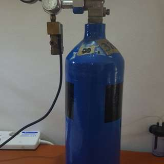 2litre CO2 tank with solenoid.