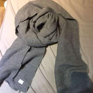 韓製淺灰溫感圍巾,8成新