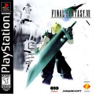 FF7 original PS1 black label
