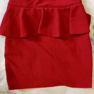 Mini Skirt Red