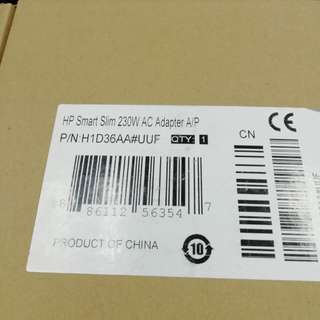 Original HP Smart Slim 230w AC Adapter, 19.5v 11.8A