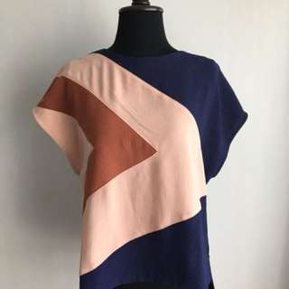 Plains & Prints x RAF color block top