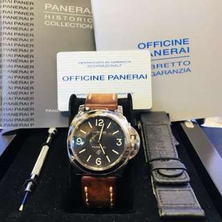 New Arrival! OFFICINE PANERAL PAM00000 手上鏈 黑面 Fullset