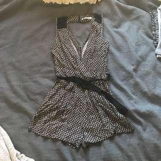Black and beige temt playsuit