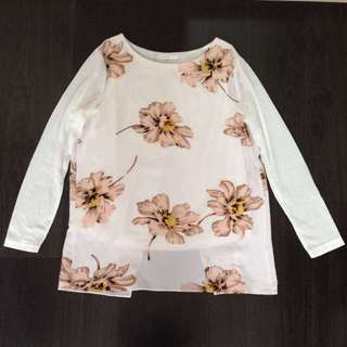Padini off white floral top