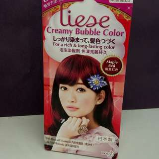 Liese Creamy Bubble Color泡泡染髮劑 (Maple Red 楓葉紅色)