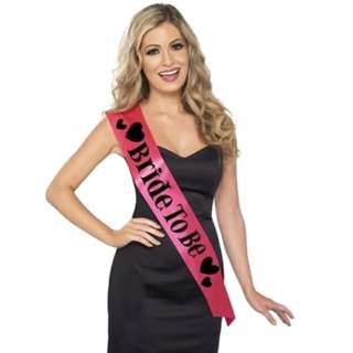 Bride to Be Sash in Hot Pink