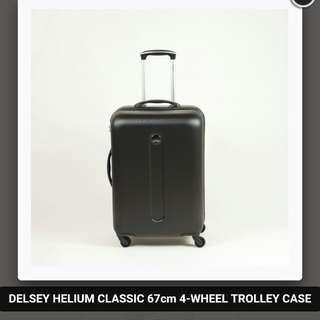 Delsey 4 Wheel Luggage Suitcase