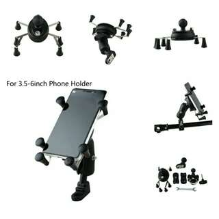 🆕🆒Universal Adjustable Motorcycle Bike Bicycle X Grip Phone Holder Shockproof Handlebar Mount For Samsung LG Sony Iphone 6 6s 7 Plus ✔Made of ABS,Same Material Used In, LEGO® Bricks💪                ✔6 Grip Points ✔ BOTH Mirror & Bar Mounts Included