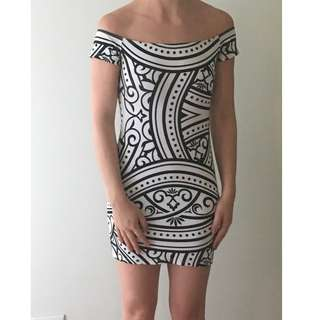 Black and White Tribal Dress