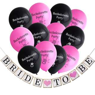 Bachelorette Party Balloons and Bride To Be Banner!