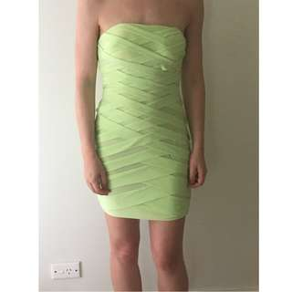 Lime Green Strapless Dress