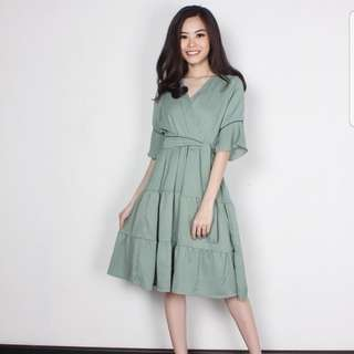 JUAL RUGI dress hijau