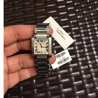 Cartier卡地亞專櫃同步W51008Q。錶盤尺寸2520.毫米 厚度5.94毫米,鐲式腕表